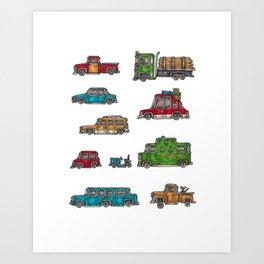Automobiles Art Print