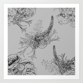 BOUQUET -pattern Art Print