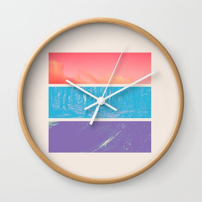 Colour Wall Clock By Sociablerobot Society6