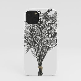 Dry Bouquet with Gold String iPhone Case