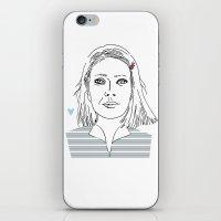 tenenbaum iPhone & iPod Skins featuring Margot tenenbaum / The royal Tenenbaum by Colomina Maevi