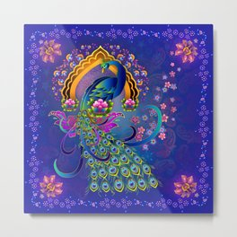 India Peacock II Metal Print