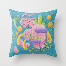 Psychadelic Pink Throw Pillow