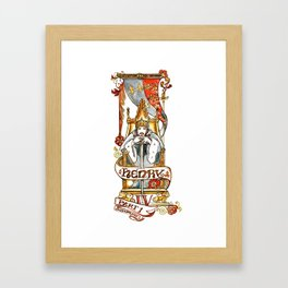 Henry IV Shakespeare Illustration Framed Art Print