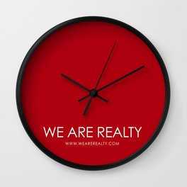 WE ARE REALTY Wall Clock