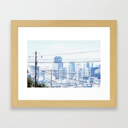 just take in the view Framed Art Print