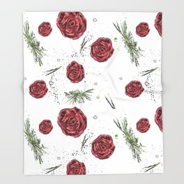 Roses pattern Throw Blanket