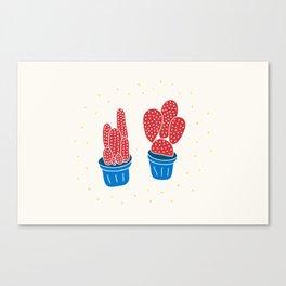 Happy Cacti Canvas Print