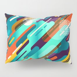 Abstract colorful background with geometric lines  Pillow Sham