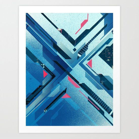 Geometric - Collage Love Art Print