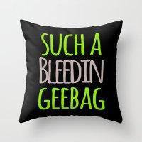 tote bag Throw Pillows featuring SUCHA TOTE BAG by Amanda C Hughes