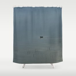 Morning Blue: Mallard Shower Curtain