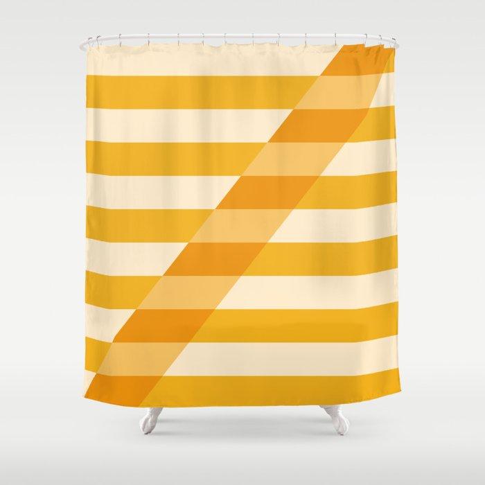 Striped Shadow 2 Shower Curtain