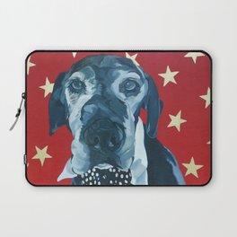 Starry Leonard the Black Lab Dog Portrait Laptop Sleeve