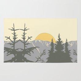 Ski Mountain Sun and Trees - Breckenridge  Rug