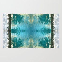 seascape 002: lacy trees and palm isles pool Rug