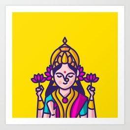 Lakshmi - The Goddess of Wealth Art Print