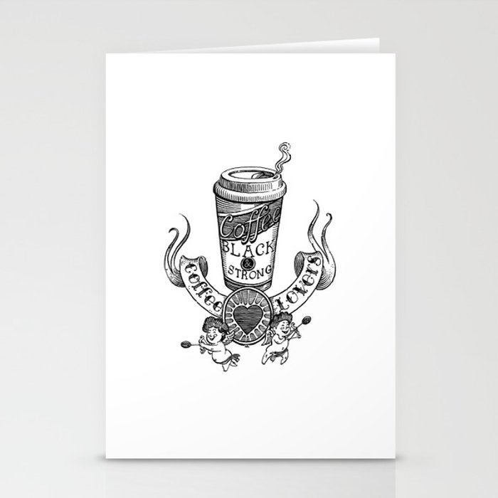 Coffee Lovers Stationery Cards