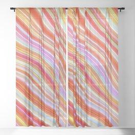 Wild Wavy Lines 23 Sheer Curtain