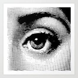 Lina Cavalieri - left eye Art Print
