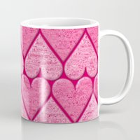 hearts Mugs featuring Hearts by Harvey Warwick