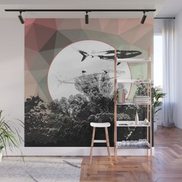 Underwater Abstract Fishes Design Wall Mural