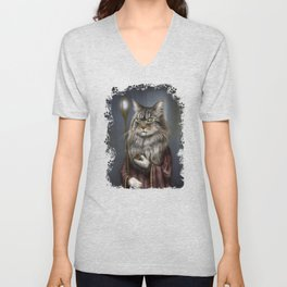 Wizard Cat Unisex V-Neck