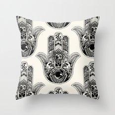 Hamsa Hand Pug Throw Pillow