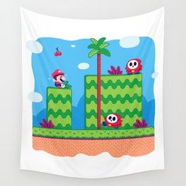 Tiny Worlds - Super Mario Bros. 2: Mario Wall Tapestry