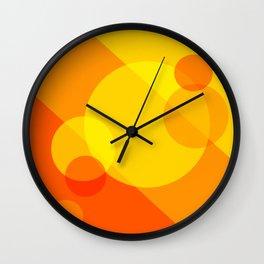 Orange Spheres Abstract Wall Clock