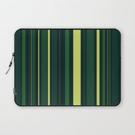 Yellow and Shades of Green Stripes Laptop Sleeve