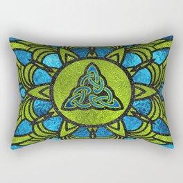 Metallic Foil Celtic Trinity Knot Triquetra Rectangular Pillow