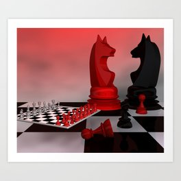 who likes chess - for tapestry and similar products Art Print