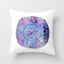 Indigo Stargate Throw Pillow