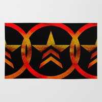 mass effect Area & Throw Rugs featuring Mass Effect Renegade by foreverwars