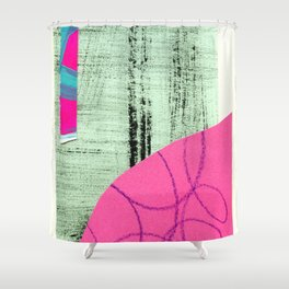 abstract collage Shower Curtain