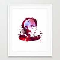hannibal Framed Art Prints featuring Hannibal by BIG Colours