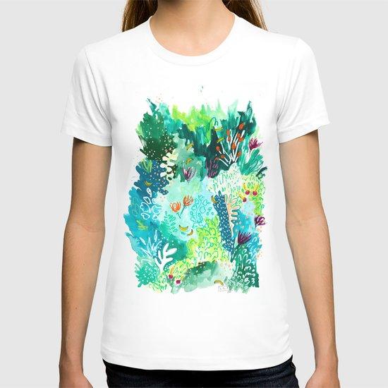 Twice Last Wednesday: Abstract Jungle Botanical Painting by larameintjes