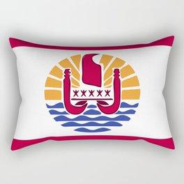 French Polynesia flag emblem Rectangular Pillow