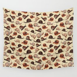 A Slew Of Snails Wall Tapestry