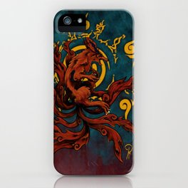 Kurama and Seal iPhone Case