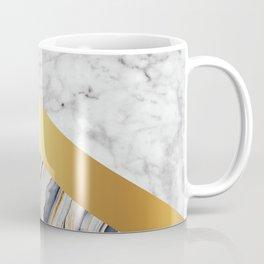 Arrows - White Marble, Gold & Blue Marble #610 Coffee Mug