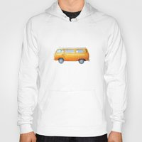 volkswagon Hoodies featuring VW Van by Camille Welsh