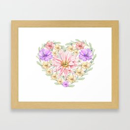 My Valentine Framed Art Print