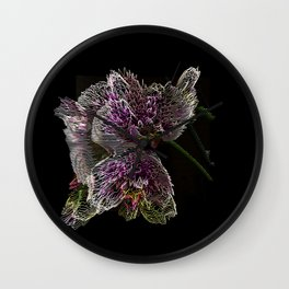 Orchid Line Wall Clock
