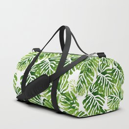 Tropical Leaves - Green Duffle Bag