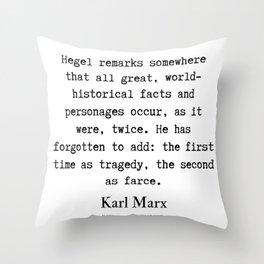 4    Karl Marx Quotes   190817 Throw Pillow