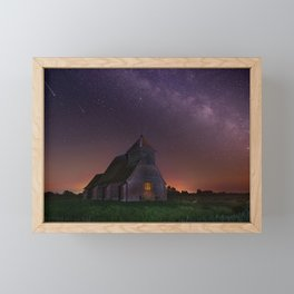 starry sky structure night church fairfield united kingdom Framed Mini Art Print