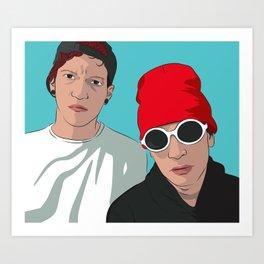 TØP - Josh Dun and Tyler Joseph Art Print