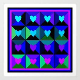 Boxes of Hearts Art Print